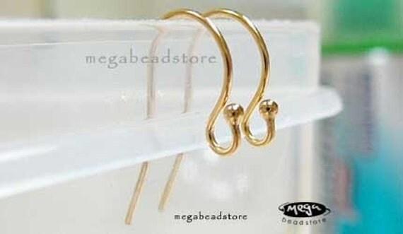 50 pcs Gold Filled Earwires Single Dot Ear Wire 1/20 14K  Wholesale F120GF
