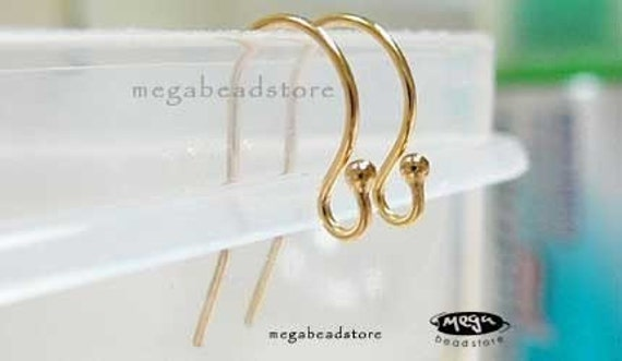 10 pcs 14K Gold Filled Ball End French Earwires Ear Wire F120GF