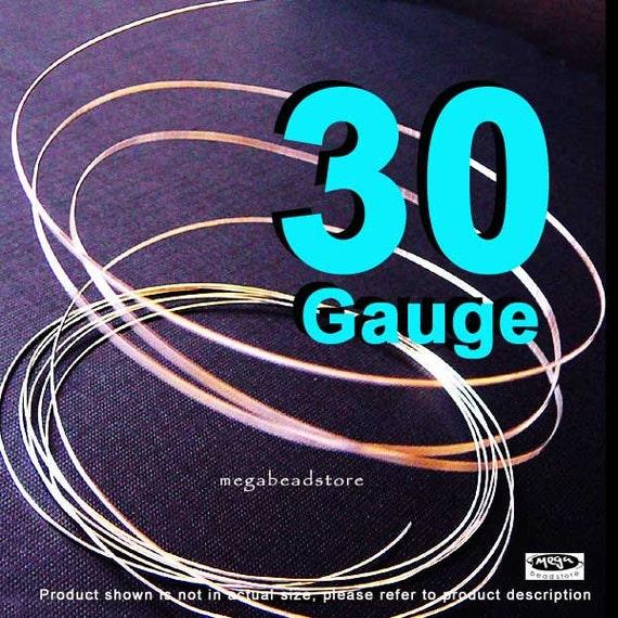 30 Gauge 925 Sterling Silver Round Wire Half Hard (HH) -40 ft