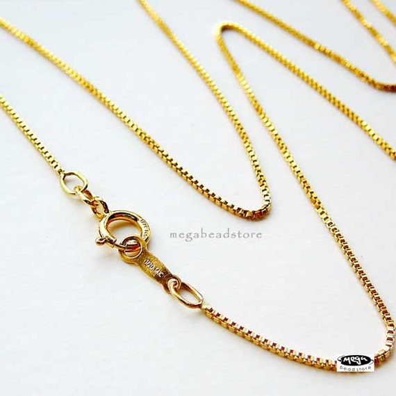 16 in 14K Gold Filled Box Chain Necklace 0.85mm FC21- 1 pc