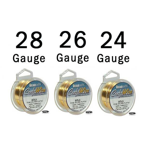 28 26 24 gauge craft wire mix non tarnish gold wire round for 24 gauge craft wire