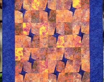 Star-Lit Batik Quilt