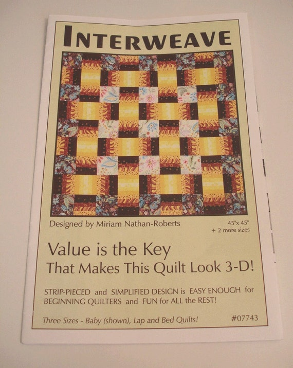 Destash - Interweave Quilt Pattern