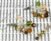 Swarovski sterling silver cluster earrings and pendant set HARVEST