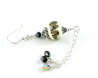 Long and Lovely Lampwork Chain Earrings Storm Season by OklahomaMama