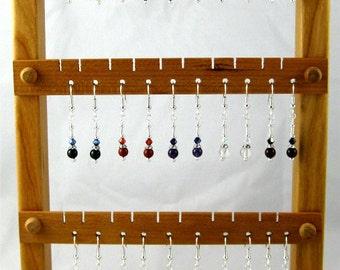 Fab Fifteen set of 15 pairs of gemstone and Swarovski crystal french hook earrings GREAT STOCKING STUFFERS
