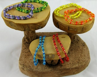 7 inches Popsicle Flavors set of twelve fun colorful stretchy seed bead bracelets size medium