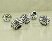 5 TierraCast Celtic Knot Large Hole Beads > Silver Plated Lead Free Pewter - I ship internationally 5506