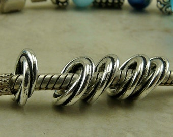 5 TierraCast 10mm Twisted Spacer Ring Twisted Link -  Fine Silver Plated Lead Free Pewter - I ship Internationally 5769