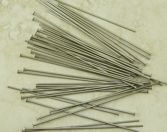 50 TierraCast 2 inch 21 gauge Nickel Headpins Head Pins > I ship Internationally - 0028