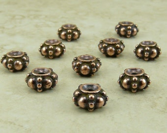 TierraCast Turkish Bali Style Spacer Beads - Copper Plated LEAD FREE Pewter - I ship Internationally 5580
