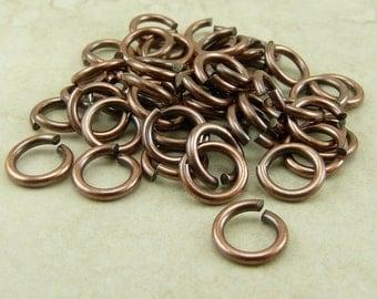 50 TierraCast 5mm 16g Jumprings jump rings > Tierra Cast - Copper Plated Brass - I ship Internationally 0020