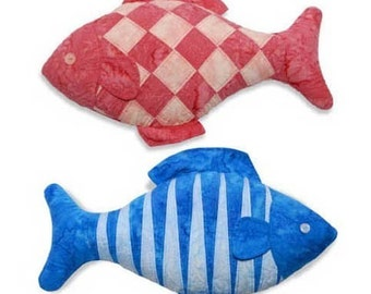 Checkerboard and Tiger Fish Sewing Pattern, PDF format