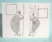 Armadillo Gossip set of 3 Cards