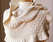 Rococo Shawl - Organic Cotton Knit Wrap - Perfect for Brides and Weddings