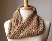 Petite Bridget Cowl - Organic Cotton Knit Neck Scarf - Custom COLORS