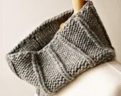 Winter Fashion - Wool Knit Neckwarmer - Cowl for Men or Women - GREY
