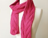 Luxurious Knit Scarf - Honeysuckle Color - Baby Alpaca and Silk - Fall Fashion