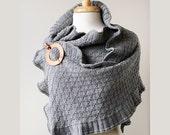 Winter Fashion - Merino Wool Ruffle Shawl - Rococo - Custom Colors - Reserved for Kathleen