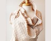 Wedding Shawl Wrap - Rococo Shawl - Lovely Wedding Dress Accessory - Shrug / Bolero / Wrap - Ivory - Ready-Made