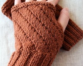 Reserved for Kathy - Merino Wool Knit Fingerless Mitts (3 pairs)
