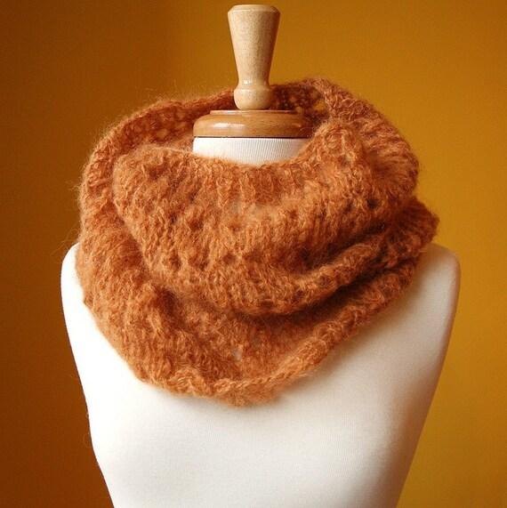 Genevieve III Cowl - Kid Mohair Blend Knit Neckwarmer / Scarf