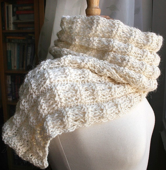 Whipped Cream Luxurious Pure Alpaca Knit Scarf - 21 CUSTOM COLORS