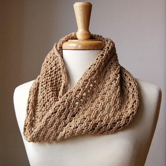 Bri Pure Oganic Cotton Knit Cowl - Custom COLORS