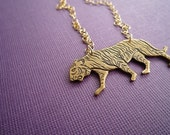 gold tricky tiger necklace
