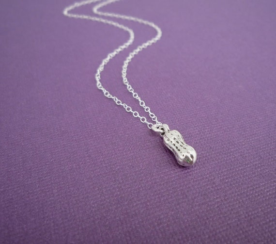 sterling silver peanut necklace gift for her Mother's Day