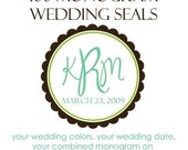 100 Custom Wedding Labels 2 inch round - seals, wedding favors, or save the date