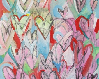 Scribbled Hearts    ORIGINAL PAINTING