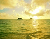 Lanikai Gold- Hawaii Photography - Hawaii Photo - Hawaii Decor - Hawaii Image - Hawaii Picture - Fine Art Photography