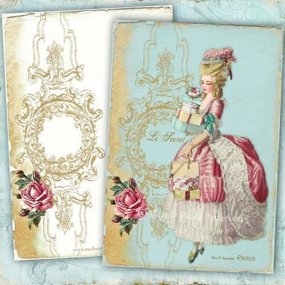 French Note Cards  Marie Antoinette Le Secret  Shopping spree in Paris