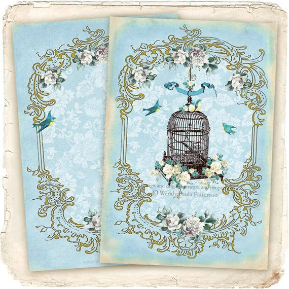 French vintage bird cage cage d 39 oiseau fleur for Cage d oiseau decorative