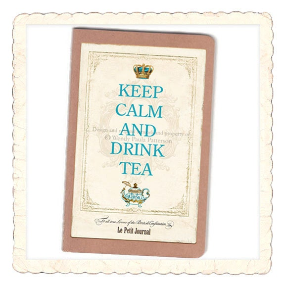 Keep Calm and Drink Tea French Pocket Note Book Moleskine Cahier