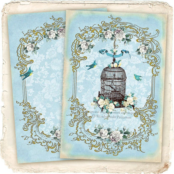 french vintage bird cage cage d 39 oiseau fleur. Black Bedroom Furniture Sets. Home Design Ideas