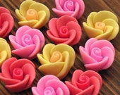 12 Polymer Clay Flower Beads 10-12mm - last 2 of 3