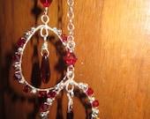 FOR J - Custom Garnet Crystal Hoop Necklaces
