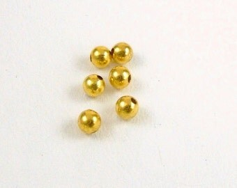 3mm Gold Plated Smooth Rounds