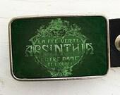 Vintage Absinthe Label Belt Buckle