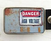 Danger High Voltage Belt Buckle