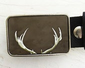 Deer Antler Belt Buckle, 14, Collaboration with Raceytay, Thanksgiving, Autumn Harves