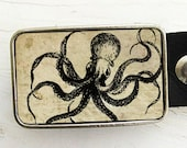 Octopus Belt Buckle (on Sepia)