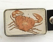 Zodiac Astrology Belt Buckle - Cancer- The Crab