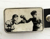 The Boxers Belt Buckle (sepia)-
