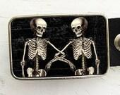Belt Buckle Skeletons Halloween