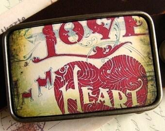 Love In My Heart Belt Buckle, Valentine's Day