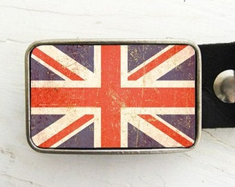 Union Jack Belt Buckle, British Flag, London