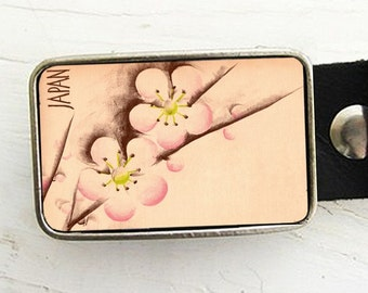 Japanese Cherry Blossom Belt Buckle